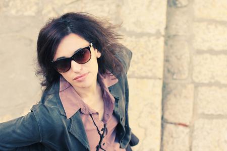 jaffo: Portrait of beautiful 35 years old woman traveling