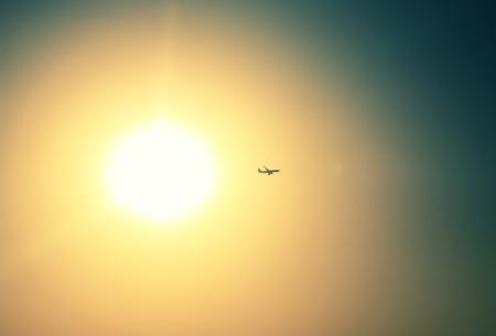 silhouette of plane photo