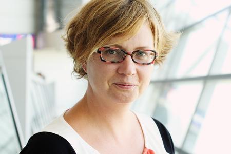 Portrait of beautiful 35 years old woman Standard-Bild