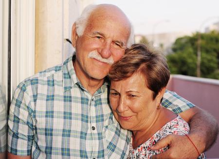 portait of happy senior couple