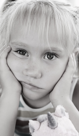 5 years old: Portrait of 5 years old girl