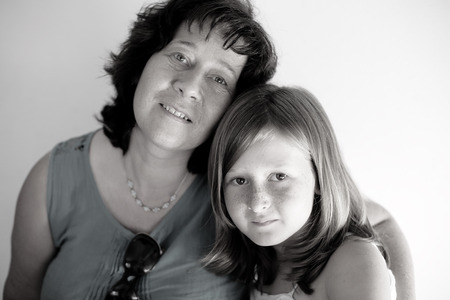 late forties: Portrait of mother and daughter