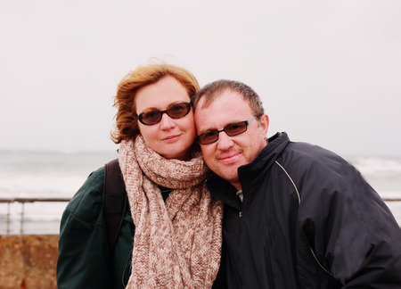 35 40 years: Portrait of happy couple on vacation