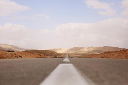 negev: road in desert Negev in israel