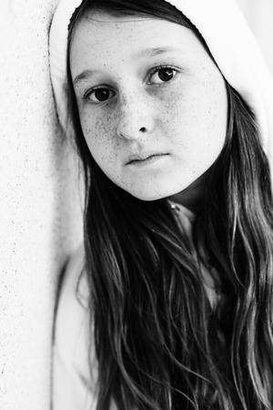 Portrait of beautiful teenage girl outdoor