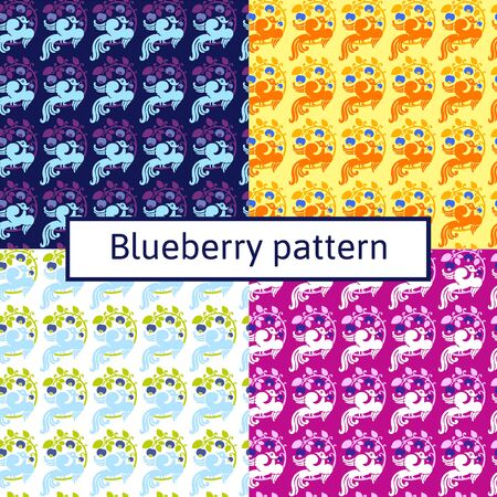 garden stuff: four views of blueberry pattern floral ornament