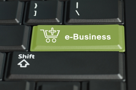 technology transaction: Concept of e-commerce   The focus is on the enter key with the shift button on the bottom