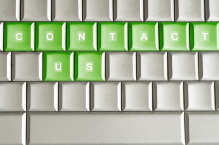 Conceptual word CONSTACT US isolated on a keyboard