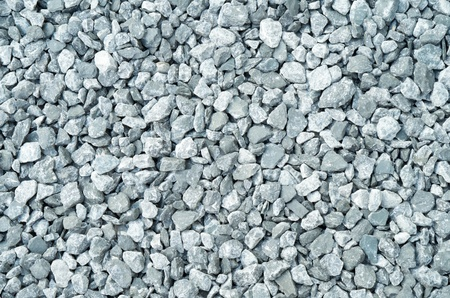 compacted: Topw down closeups view of compacted gray gravel Stock Photo