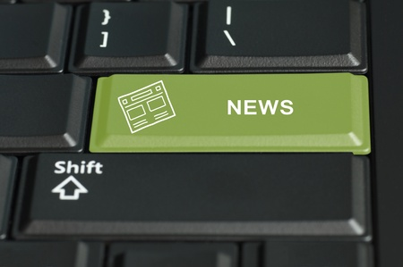 technology transaction: Concept of news call to  action. The focus is on the enter key with the shift button on the bottom
