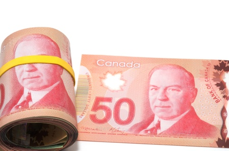 Series of Canadian dollars photo