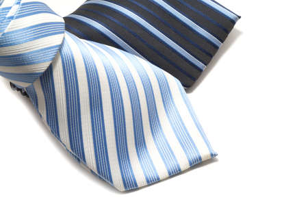 pin stripe: Two pin stripe ties on white background