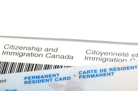 citizenship: Issued Permanent resident  card over immigration Canada letter
