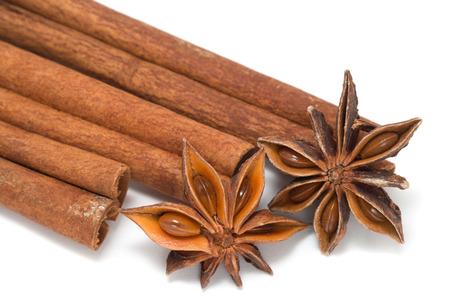 Cinnamon sticks, star anise