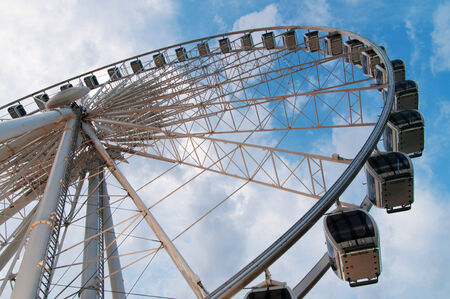 ferriswheel: Large ferris wheel against clear blue sky  Stock Photo