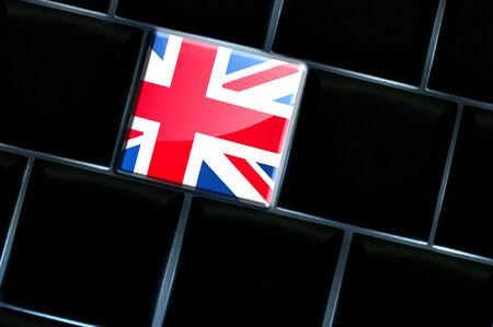 backlit keyboard: Online United Kingdom concept with backlit keyboard Stock Photo