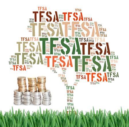 canadian cash: Canadian Tax-Free Savings Account concept word cloud
