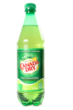 MONTREAL, MAY 16,2014: Plastic bottle 710ML of Canada Dry Ginger Ale. Canada Dry is a beverage brand that includes many carbonated waters and ginger ales.