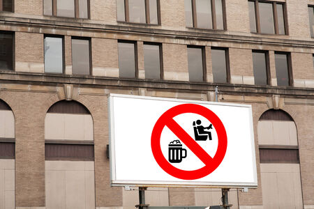 Dont drink and drive sign on billboard photo