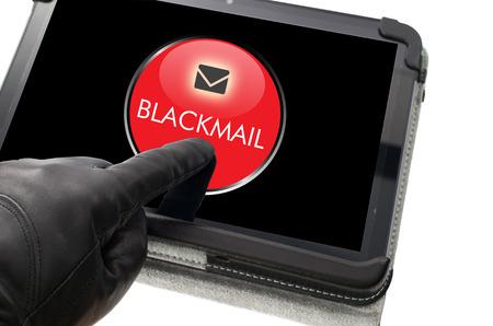 Online blackmailing concept
