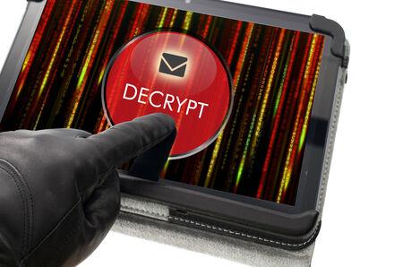 decrypt: Decrypting e-mail concept