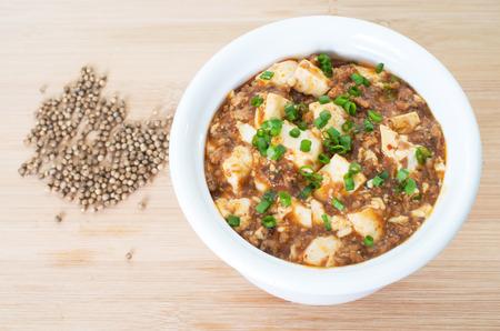 chinesisch essen: Sichuan Mapo Tofu, chinesisches Essen