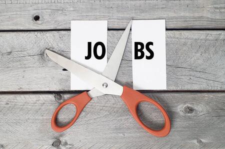wood cutter: Jobs cutting concept Stock Photo