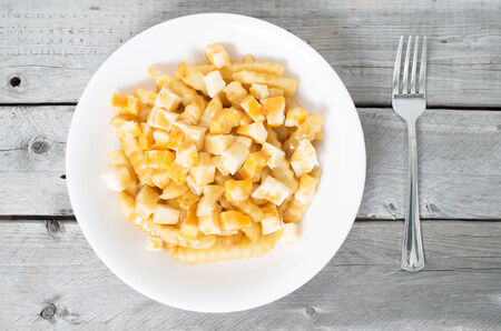 Quebec's most popular traditional fast food - la Poutine