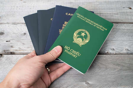 Dual citizenship concept, Vietnamese and Canadian photo