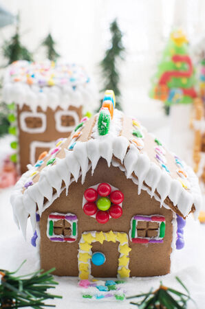 gingerbread: Gingerbread house in snow