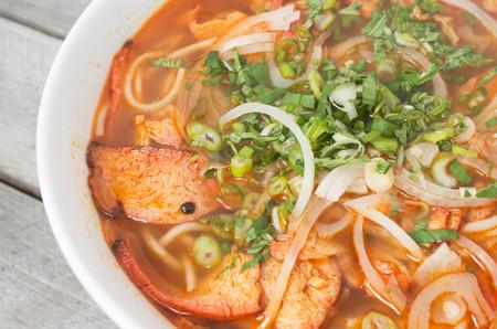 Vegetarian central Vietnamese hot and spicy soup, Bun Bo Hue chay