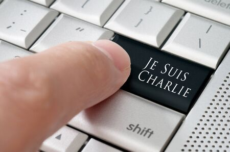 key to freedom: Je suis charlie online community concept