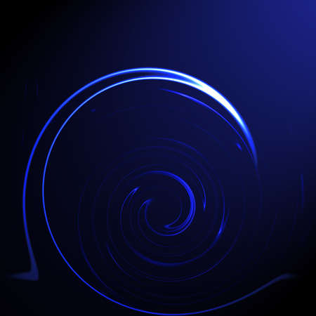 Abstract dark blue background with twirls and gradient