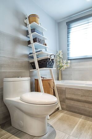 bathroom interior: Modern bathroom in luxury house