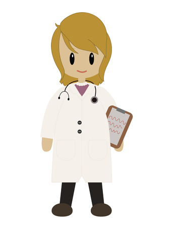 Female Doctor in Lab Coat with Stethoscope