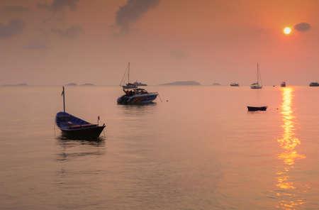 aruba: Sea sunset Stock Photo