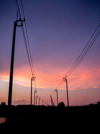 telephone poles: electrical pole structure
