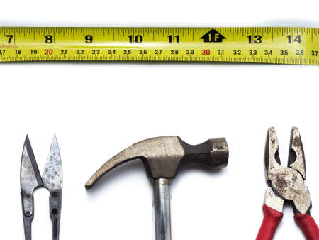 cutter: Craftsman tool isolated on white background Stock Photo