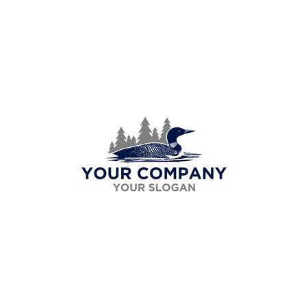 Vecteur de conception de logo huard commun Logo