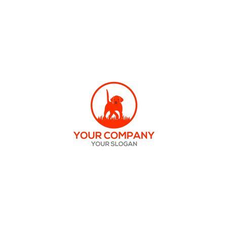 English Pointer Dog Logo Design Vector Logó