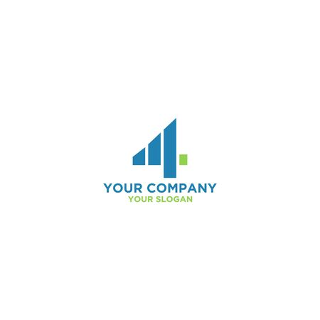 Four Accounting Logo Design Vector