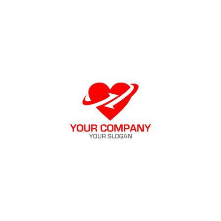 Heart Trade Accounting Logo Design Vector