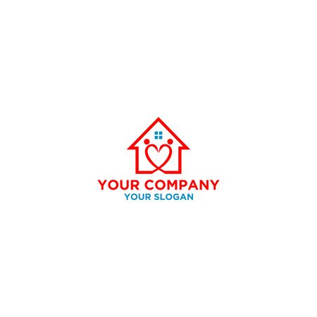 Home Care logo design template vector image 矢量图像