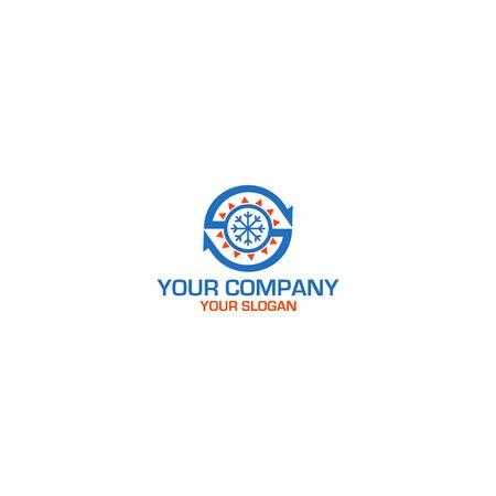 HVAC S Logo Design Vector