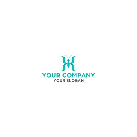 K Insect Logo Design Vector