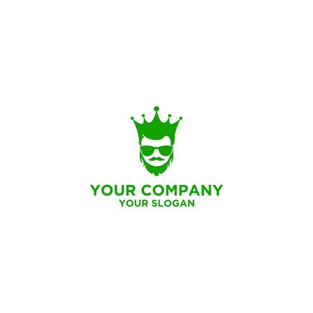 king fashion men logo Logo Design Vector