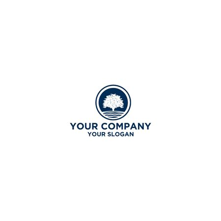 Lake Oak Logo Design Vector