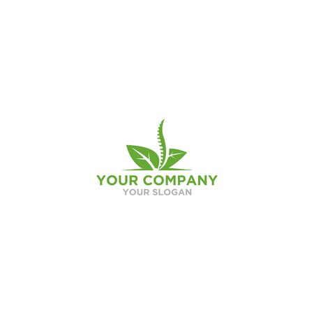 Leaf Chiropractic Logo Design Vector Illustration