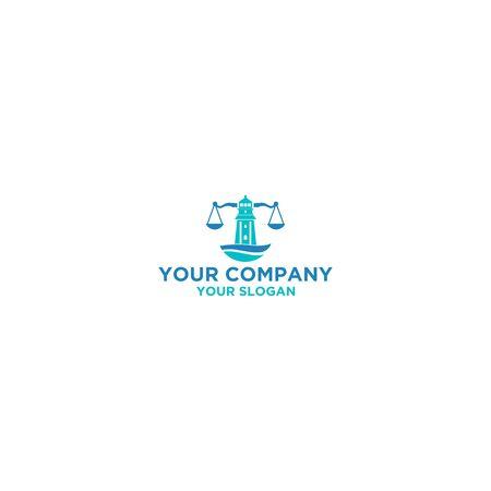 Lighthouse Law Firm Logo Design Vector