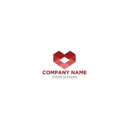 Medical Diamond Heart Logo Design Vector  イラスト・ベクター素材